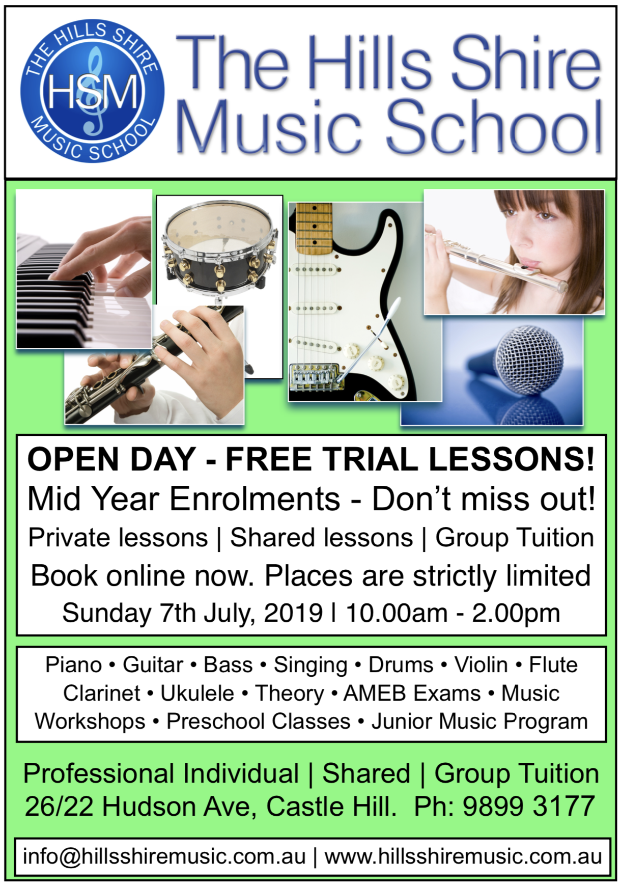 HSM - Open Day, July 2019