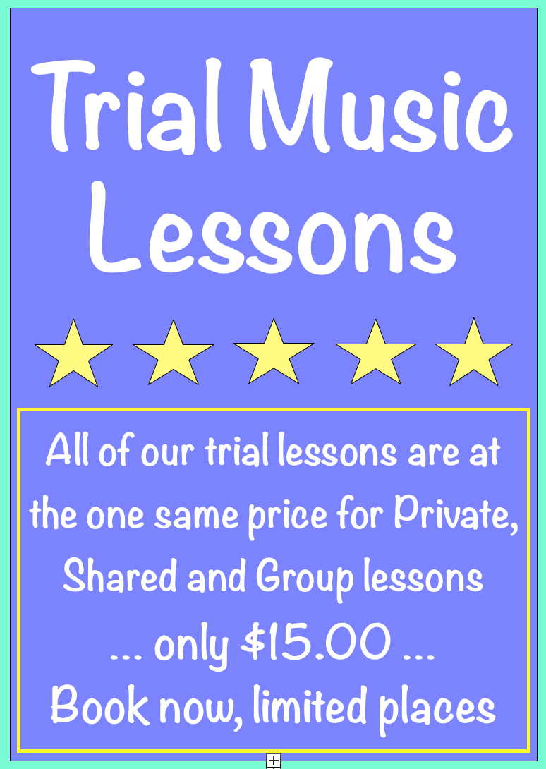 HSM - Trial lessons $15.00
